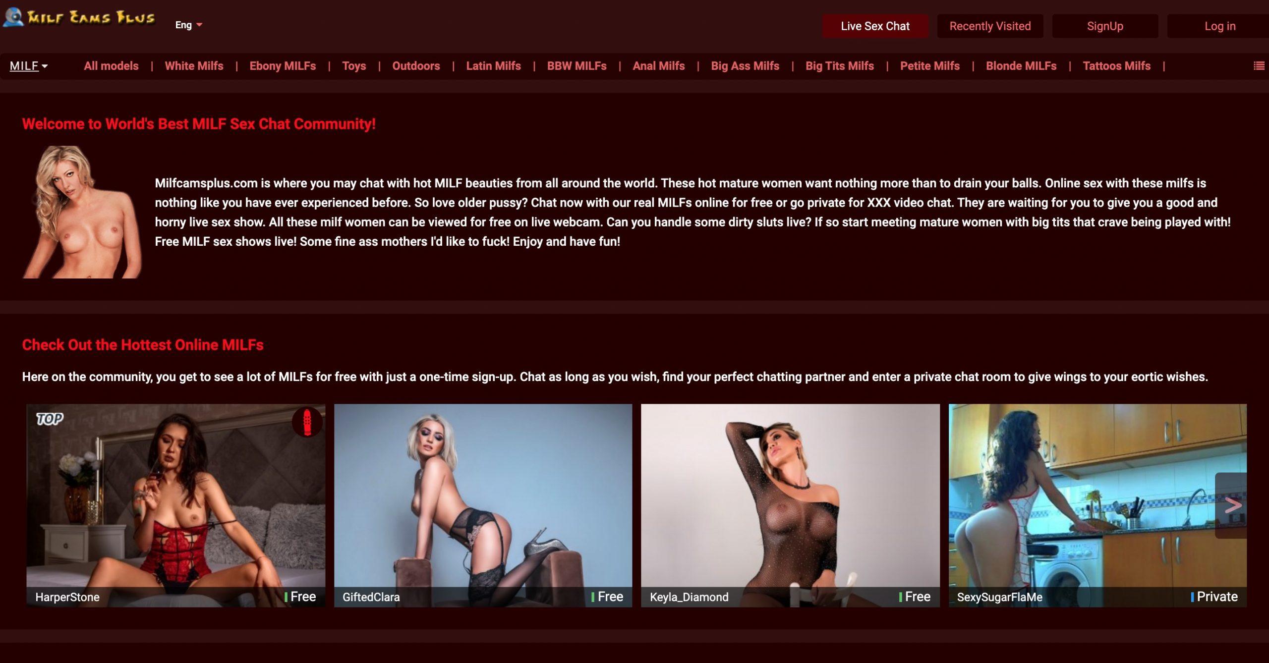 Milf Cams Plus main page