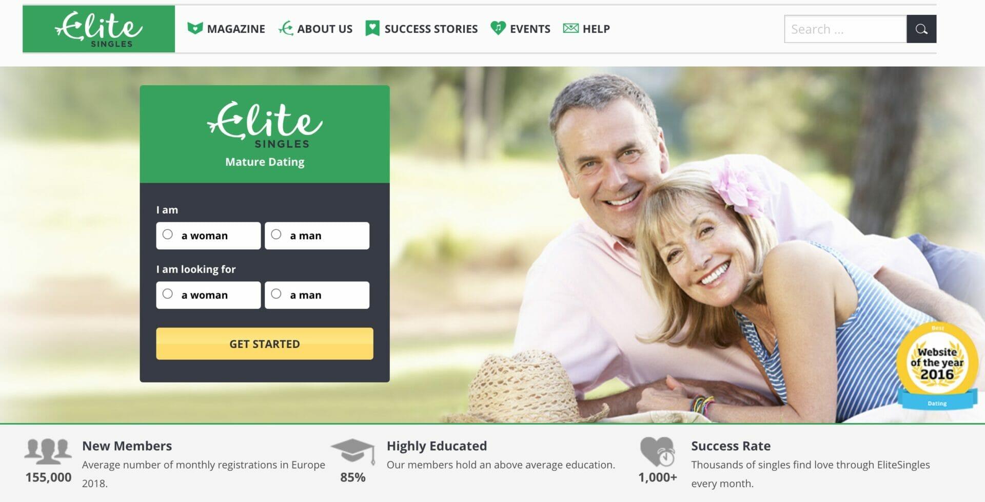 EliteSingles mature page